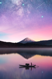 Milky Way Mount Fuji