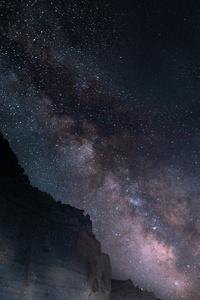 1080x2160 Milky Way Mountains 5k