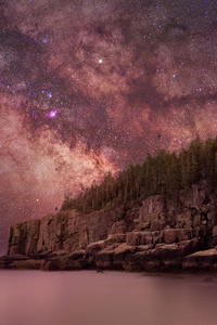 1125x2436 Milky Way Over Otter Cliffs 4k