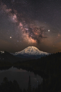 1080x2160 Milky Way Over Summt Lake