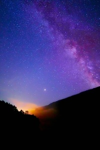Milkyway Over Mountains 5k