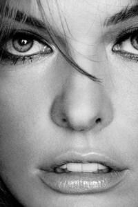 480x854 MIlla Jovovich Monochrome