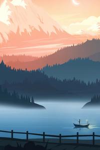 1080x2160 Minimal Life Landscape 8k