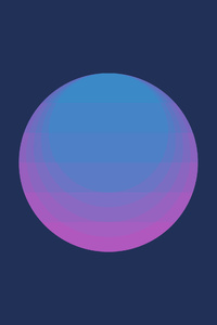 1242x2688 Minimalism Circle 4k