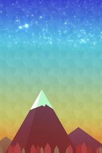 640x1136 Minimalism Mountain Peak