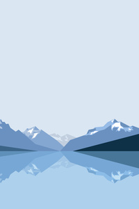 Minimalist Blue Mountains 8k
