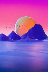 720x1280 Minimalist Landscape Cgi