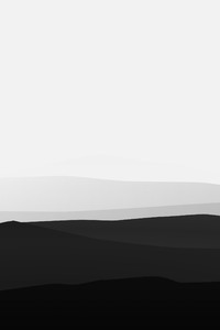 2160x3840 Minimalist Mountains Black And White
