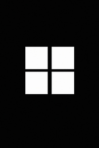 1125x2436 Minimalistic Windows Logo Black 4k
