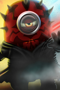 320x568 Minion As Darth Maul
