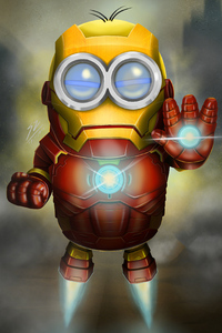 Minion As Iron Man 4k