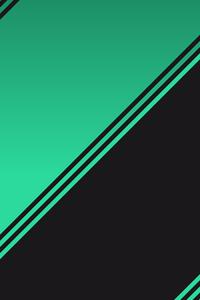 1242x2688 Mint Black Abstract 4k