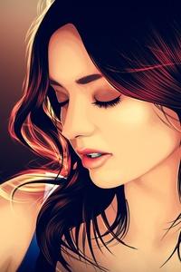 1080x2160 Miranda Kerr Art 4k