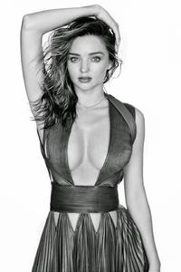 1280x2120 Miranda Kerr Black And White