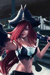 320x568 Miss Fortune League Of Legends 5k