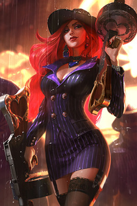 640x1136 Miss Fortune League Of Legends
