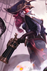 Miss Fortune Lol Art 4k