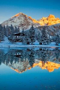 640x960 Misurina Lake Reflections