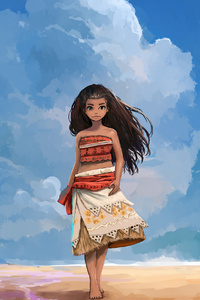 320x568 Moana Fan Art 4k