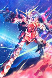 480x800 Mobile Suit Gundam Unicorn Anime 4k