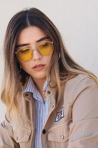 Model Outdoor Wearing Sunglasses