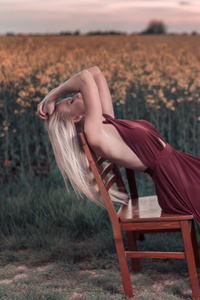 Model Photography Dress Field Hd