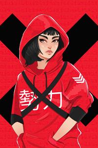 540x960 Money Heist Tokyo Digital Art 4k