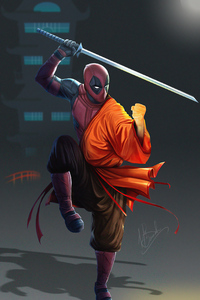 1080x2280 Monk Deadpool Fist
