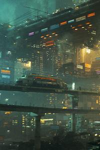 Monorail Scifi City Cg Art