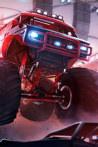 1080x2160 Monster Trucks 4k