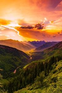 Montana Sunset Dusk Sky Clouds