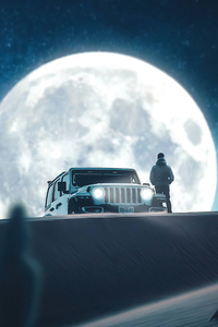 1125x2436 Moon And Jeep