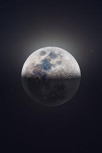 2160x3840 Moon Astrophotography 4k
