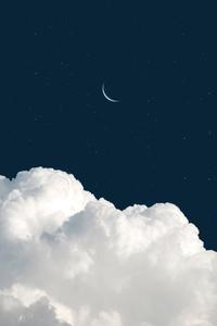 720x1280 Moon Clouds 4k