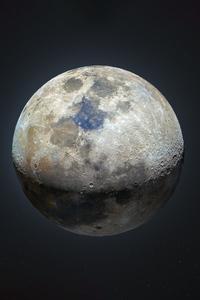 800x1280 Moon Dark Night 5k