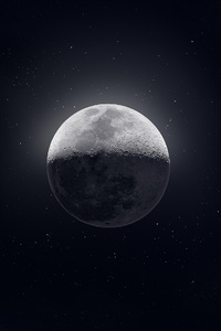 1125x2436 Moon Dark Sight 4k