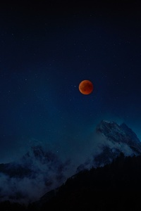 Moon Eclipse 8k