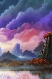 1080x1920 Moon Fantasy Sky Landscape