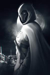 Moon Knight Monochrome 4k