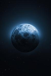 1440x2560 Moon Night 5k