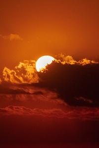Moon Night Clouds 5k