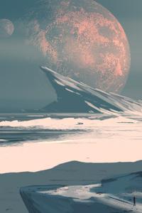 Moon Ocean Digital Art