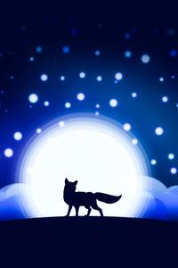 Moon Shining Fox Artwork