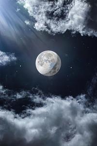 540x960 Moon Sky 5k