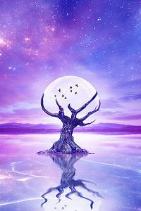 1440x2960 Moon Tree