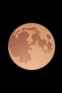 320x568 Moon Vector 4k