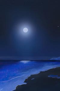 720x1280 Moonlit Shore 4k