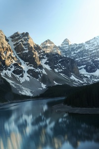 540x960 Moraine Lake Canada Reflections 5k