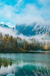 Morning In Mountains Lake 4k