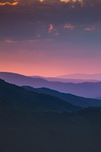 1440x2960 Morning Shades Of Pink Mountains 5k